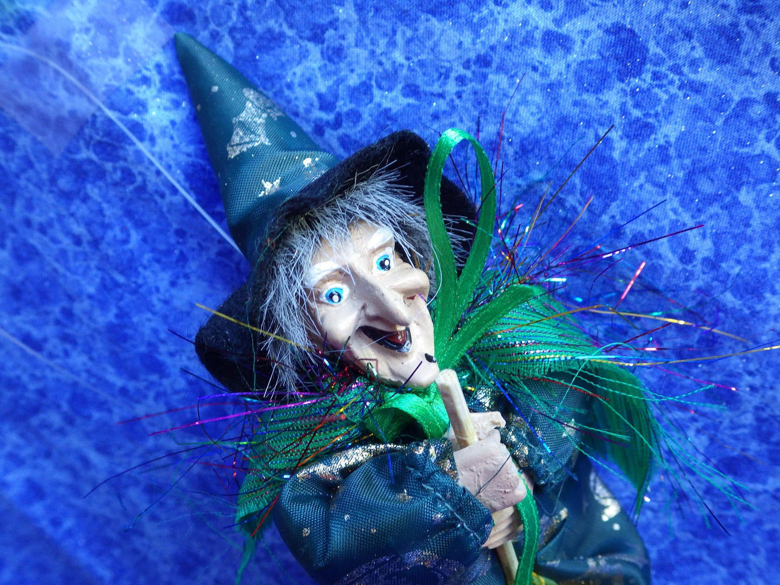 Vintage Green GOOD LUCK WITCH from Germany for Halloween -Kitchen Witch- Walpurgis Night