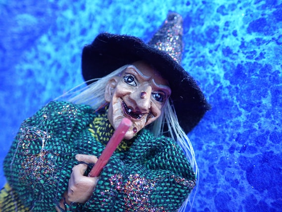 Vintage Good Luck Witch from Germany --7.5