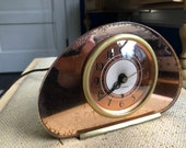 Vintage Seth Thomas Sequin - Peach Mirror Mantle Clock - Refurbished