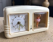 Vintage Waltham Ballerina Windup Alarm Clock - As Is