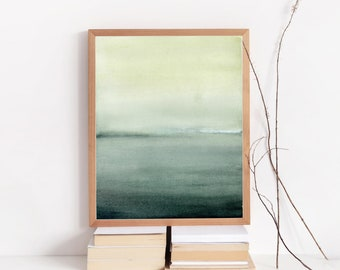 Moody Watercolor Print - Found - Abstract Print