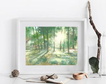 The Clearing * Watercolor Print* Escape Collection
