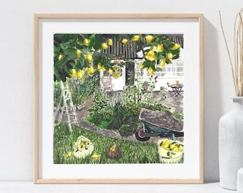 Limonada * Watercolor Print* Escape Collection