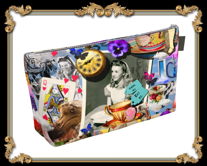 bdbc4380beaa Alice in Wonderland Makeup Bag Alice in Wonderland Theme