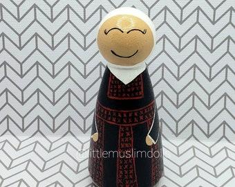 Palestine Dolls Muslim Peg Doll Jordan Syria Iraq Lebanon Bedouin Badoo Falasteen Tatreez  Arab Traditional Arabian