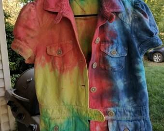 Bolero Tie-Dye Jacket