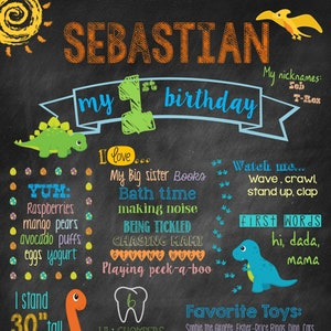 Dinosaur Girl Chalkboard Birthday Sign PrintableDigital DownloadParty InviteChalkboardGirl/'s Party DecorGirly Dino PartyDino Decor