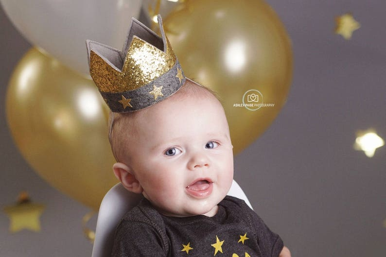 Twinkle Little Star Gold Crown for Baby Birthday Party   Choose Any Color to Match Outfit  for Cake Smash Photo Prop Pictures