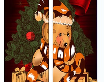 Christmas Teddy Bear Socks