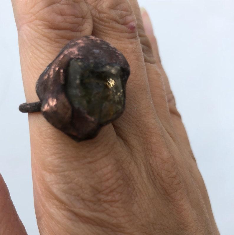 citrine jewelry statement ring boho ring healing crystal rustic copper ring Gemstone ring November birthstone citrine crystal