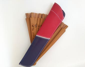 Fan case, leather case, leather fan cover, hide-a-ceiling cover