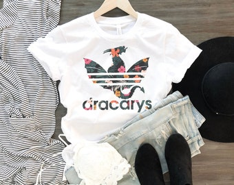 f3a6d3bd Dracarys Dragon Floral T-Shirt, Mother Of Dragons Shirt, Khaleesi Mom Shirt  For Women, GOT Fans Gift Tee, Daenerys Targaryen Shirt