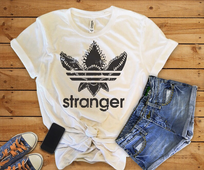 d981b3dd Demogorgon adidas shirtdemogorgon shirtstranger things | Etsy