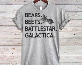 bears beets battlestar galactica, bears beets battlestar galactica shirt, dwight schrute, the office, the office tv show, the office shirt,
