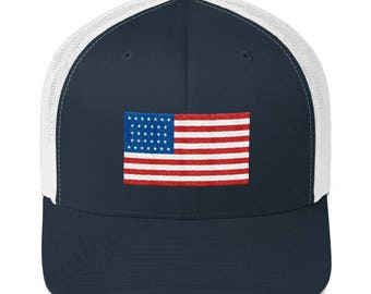 cc88c2104c1 United States Hat - United States Flag Hat - United States Flag - USA Flag  Hat - USA - United States Trucker Cap - United States Trucker Hat