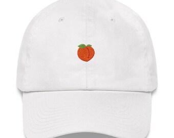 0b61b3905ae Peach Dad Hat - Peach Hat - Peach - Peach Emoji - Peach Emoji Hat - Peach  Emoji Dad Hat - Booty - Booty Hat - Peach Polo Hat - Georgia Hat