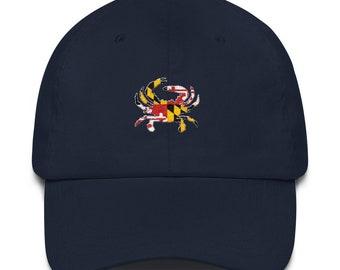 badae6c01afe4 Maryland Dad Hat - Maryland Hat - Maryland - Maryland Crab - Maryland Flag  - Maryland Flag Hat - Maryland Crab Hat - Crab - Crab Hat - MD
