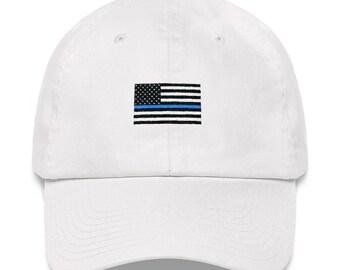 Police Dad Hat - Police Hat - LEO Hat - LEO Dad Hat - Back the Blue - Thin  Blue Line Hat - Thin Blue Line - Blue Lives Matter - Blue Line faac17f1dd61