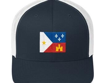 b29782fc8bbff6 Acadian Flag - Acadian Flag Hat - Louisiana Hat - Louisiana Trucker Hat -  Louisiana State Flag - Acadian - Acadian Flag Trucker Cap - NOLA