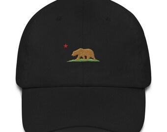 e5cc29380c648 California Dad Hat - California Hat - California Bear - California Flag - California  Flag Hat - California Republic - California - Cali