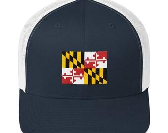 18b20b0021818 Maryland Hat - Maryland Flag Hat - Maryland Flag - Maryland - Maryland Ball  Cap - Maryland Trucker Hat - Maryland Trucker Cap - Maryland Cap
