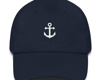 Anchor Dad Hat - Anchor Hat - Anchor - Gamma Delta - Gamma Delta Hat - Gamma Delta Dad Hat - Nautical Hat - Sorority Hat - Captain Hat