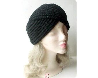 Turban hat cap cap/black/size M-L
