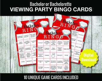 Bachelor Viewing Party Bingo Cards INSTANT DOWNLOAD