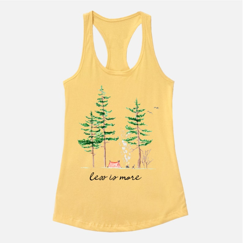 Less is More Racerback Tank  Camping clothes  Mountains  image 0