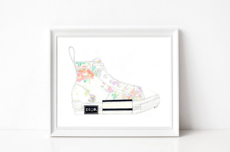 Dior Kicks  Print  8x10  Various Sizes  Wall image 0