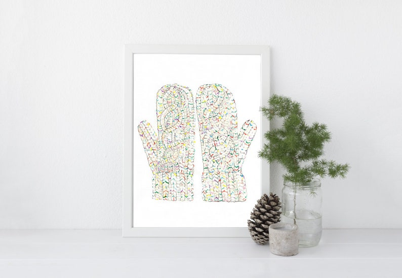 Flecked Mitts  8x10  Various Sizes  Wall Art  image 0