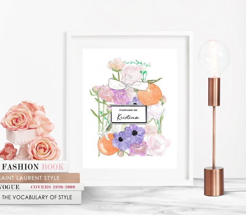 CUSTOMIZE  Parfume Fleurs Bottle Name  Prints  image 0