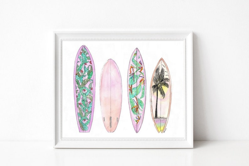 Tropical Surfboards  Prints  8x10  Various image 0