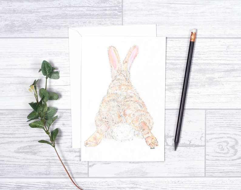 Bunny Rabbit  Note Cards  4x6  Individual  image 0