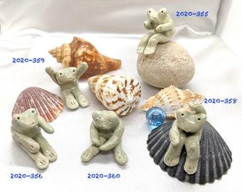 Ceramic Mint Green froggie, indoor planter decor, interior decor, Home decor, miniature, Spring