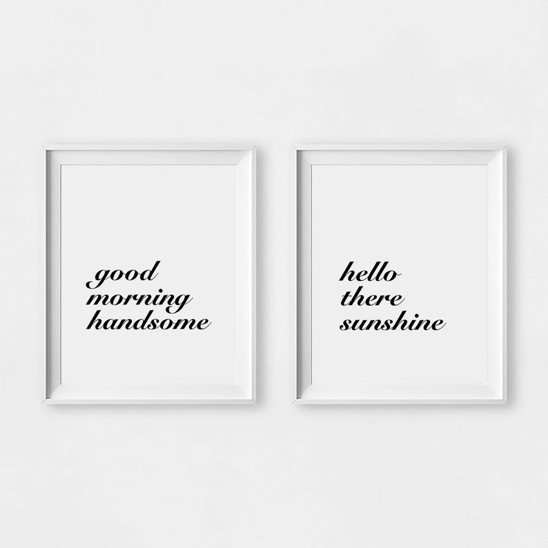 morning minimalist handsome hello
