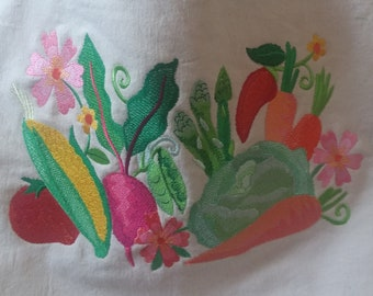 Hand Made Embroidered Canvas Tote Bag