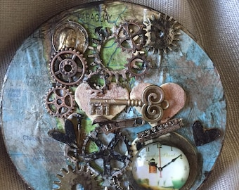 Crazy Cute Assemblage Holiday Ornament