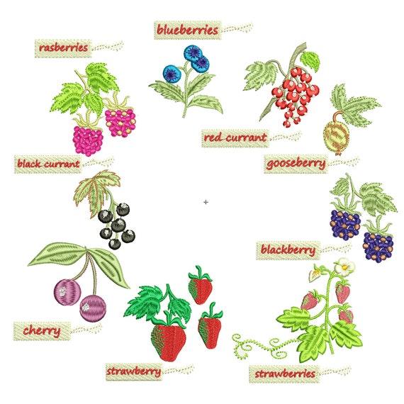 Strawberry Jam Cherry Confiture Kitchen Label Wreath Machine Etsy