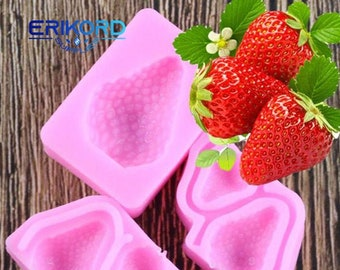 Strawberry Silicone Mould Fondant Icing Wedding Cake Mold Cake Decorating To/_DD