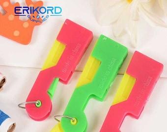 Verwendung Automatische Einfach Nähnadel Gerät Einfädler Fadenführung Werkzeug