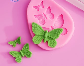 Cookies Silicone Molds 3D Fondant Chocolate Baking Mould Butterfly DIY W