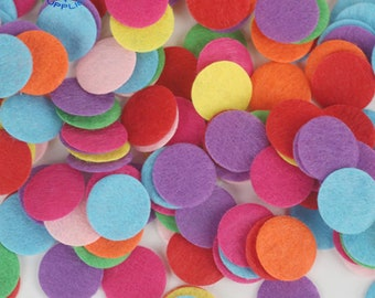 0.8 inch GREATLOVE Felt Circles Round Felt Pads Mixed Color Assorment for Crafts