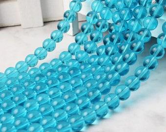 20 x 14 inch strand size 6//8//10 glass seed beads Blue mix *UK  SHOP*