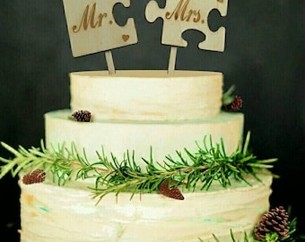 Puzzle Cake Topper Etsy