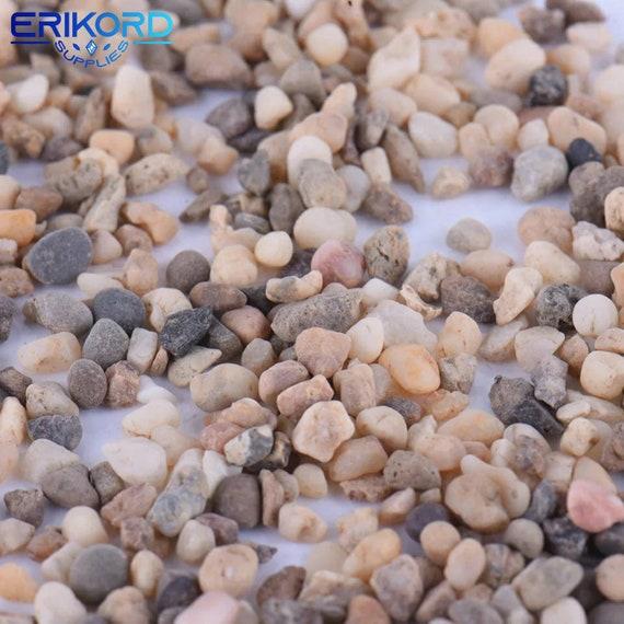 50g Natural Gravel Stones Rock Aquarium Flowerpot Fish Tank Sands Decor Supplies