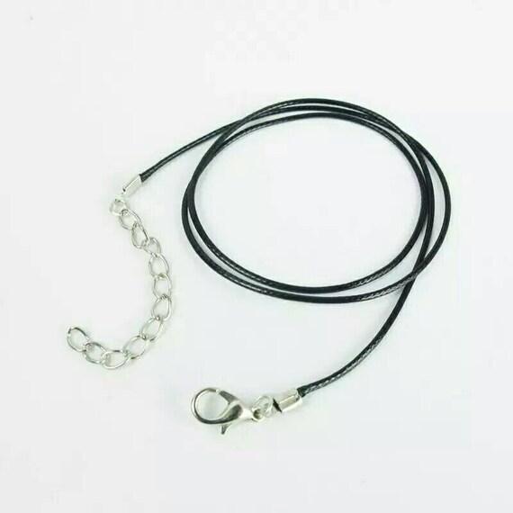 50pcs cuir cordon chaine fermoir crochet 1,5 mm cuir cordon en cuir noir cordon cuir bleu violet fermoir crochet chaîne fermoir offre de bijoux