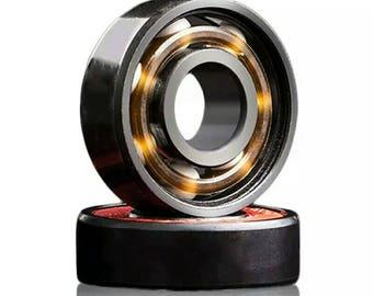 608RS Ceramic Black Speed Wheels Bearing For Finger Spinner Fidget Spinner Skateboard Skate Roller Free Shipping Worldwide
