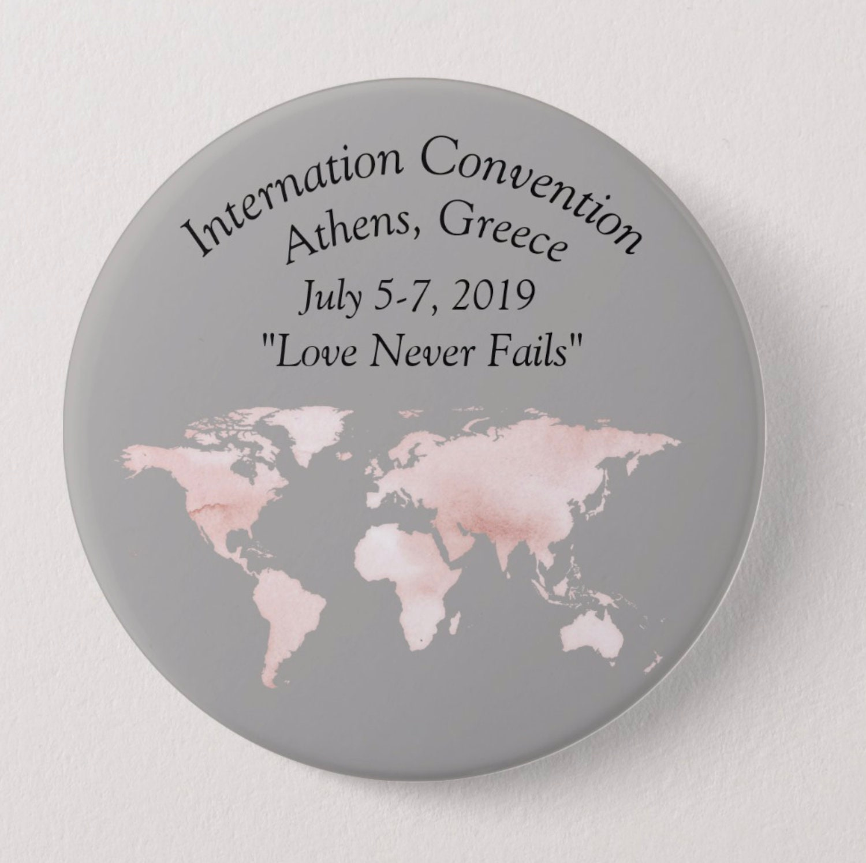 Jw Love never fails International Convention Pins Buttons| Jw Pins|Jw