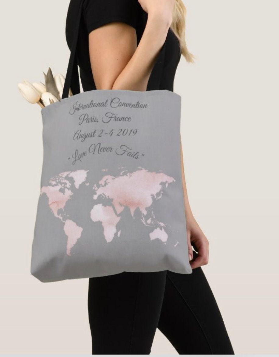 Jw International Conventions  Jw 2019 Love Never Fails tote bag  Jw